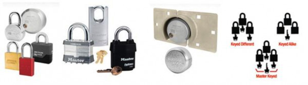 The many types of Padlocks, all available at Tinder.