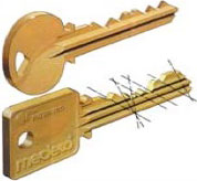 Standard key compared to high-security keys - by Tinder