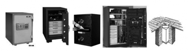 The many types of safes, all available from Tinder.